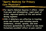 sports medicine for primary care physician s94