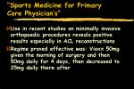 sports medicine for primary care physician s95