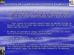 historia de la medicina forense en mexico