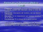 partes de un dictamen medico legal