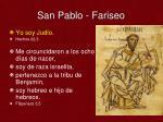 san pablo fariseo
