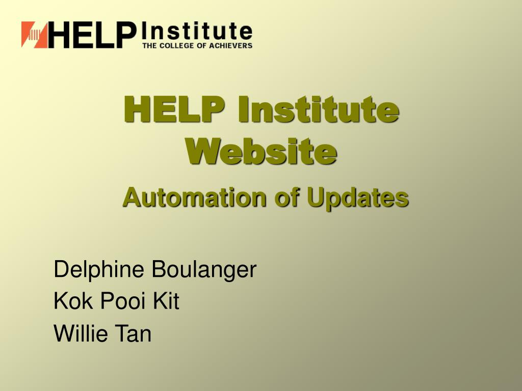 help institute website l.