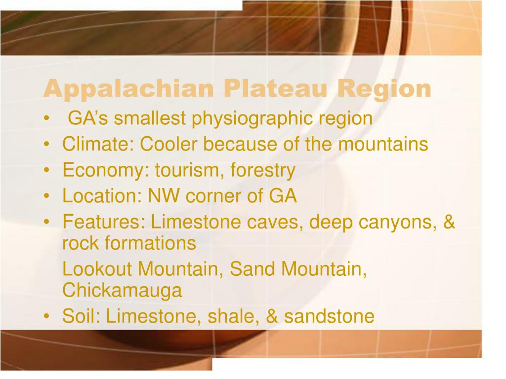 appalachian plateau region l.