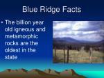 blue ridge facts