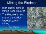 mining the piedmont