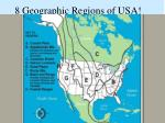 8 geographic regions of usa