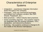 characteristics of enterprise systems