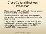 cross cultural business processes