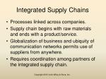 integrated supply chains