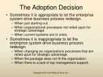 the adoption decision