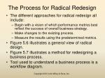 the process for radical redesign