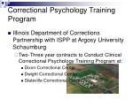 correctional psychology training program