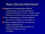 basic security mechanism