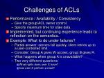 challenges of acls