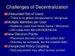 challenges of decentralization