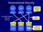 decentralized security