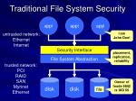 traditional file system security