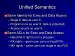 unified semantics
