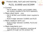 product data tech pub and training plcs s1000d and scorm