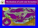 mechanism of acid rain formation