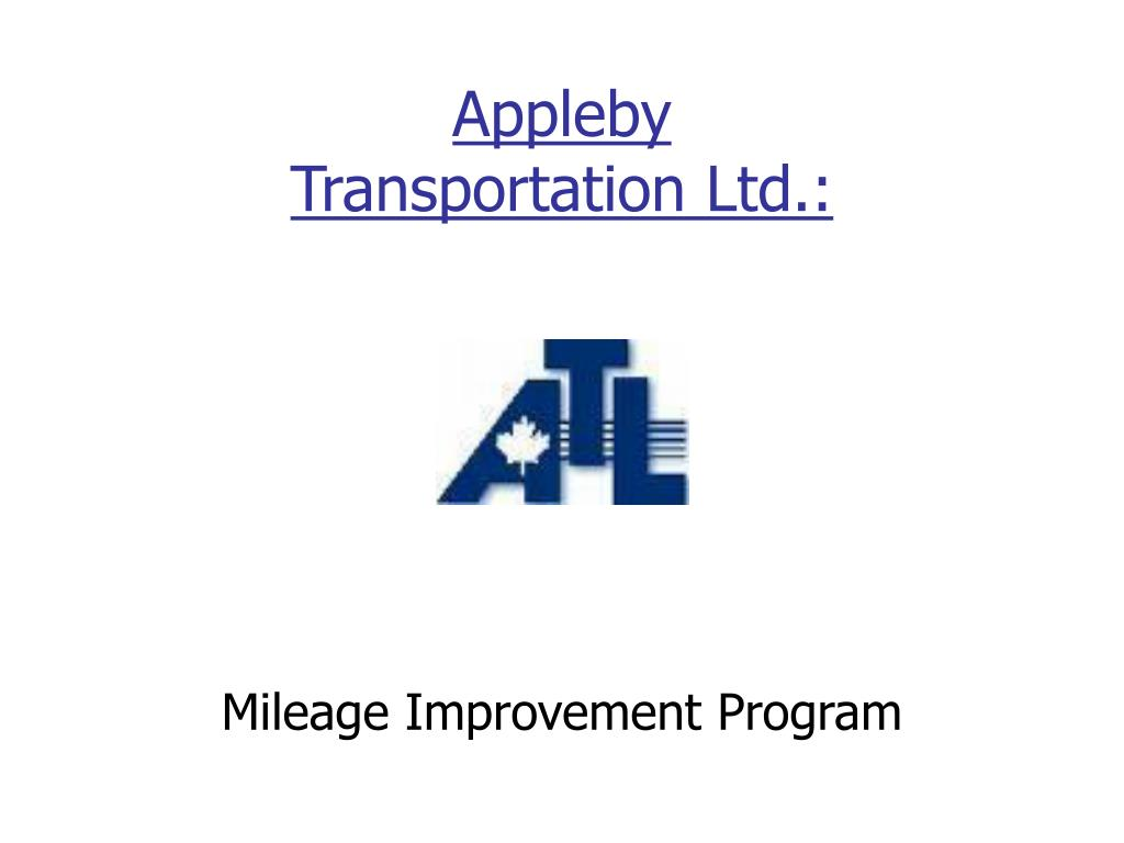 appleby transportation ltd l.