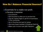 how do i balance financial sources22