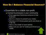 how do i balance financial sources23