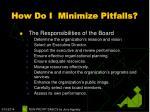 how do i minimize pitfalls12
