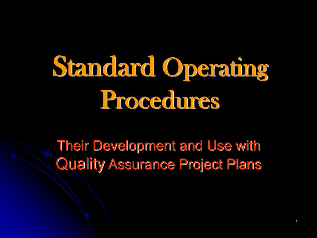 standard operating procedures l.