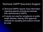 technical qapp document support