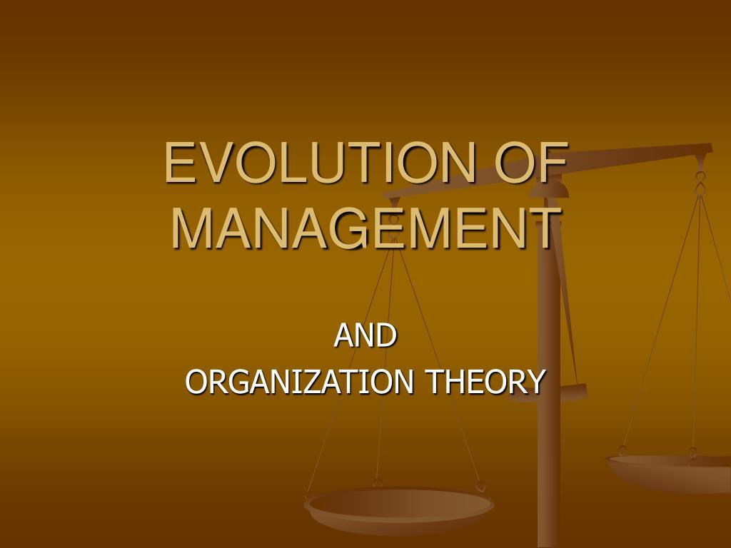 evolution of management l.