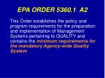 epa order 5360 1 a2