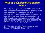 what is a quality management plan