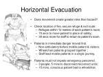 horizontal evacuation