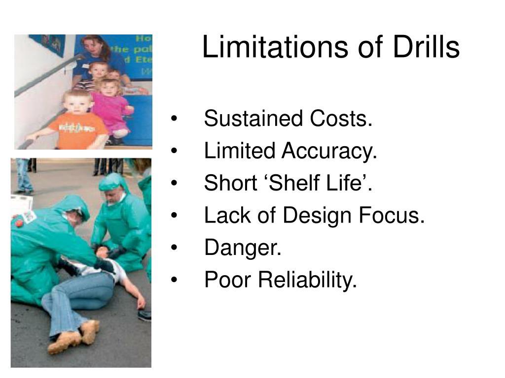 Limitations of Drills