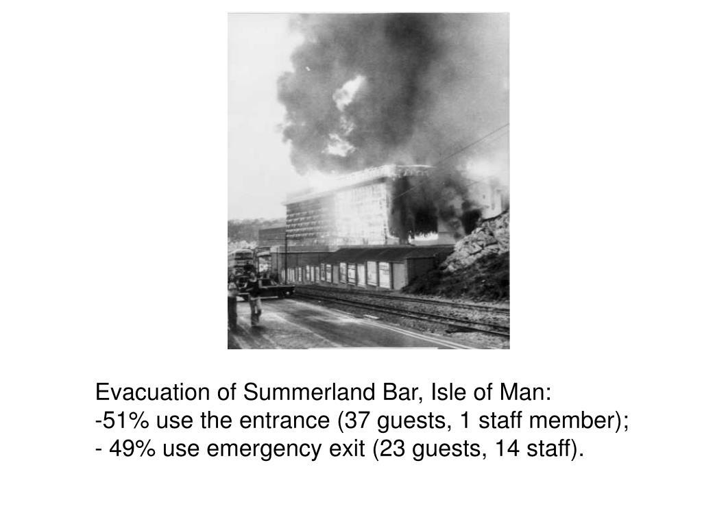 Evacuation of Summerland Bar, Isle of Man:
