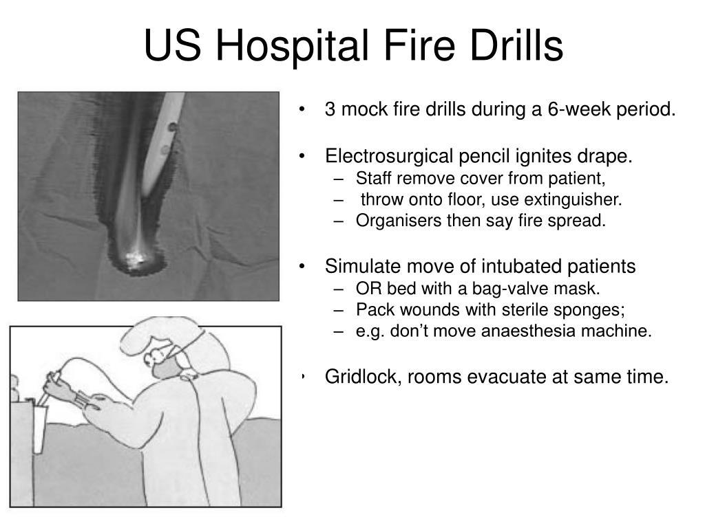 US Hospital Fire Drills
