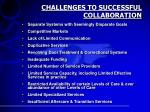 challenges to successful collaboration