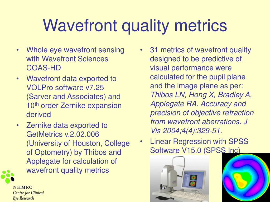 Whole eye wavefront sensing with Wavefront Sciences COAS-HD