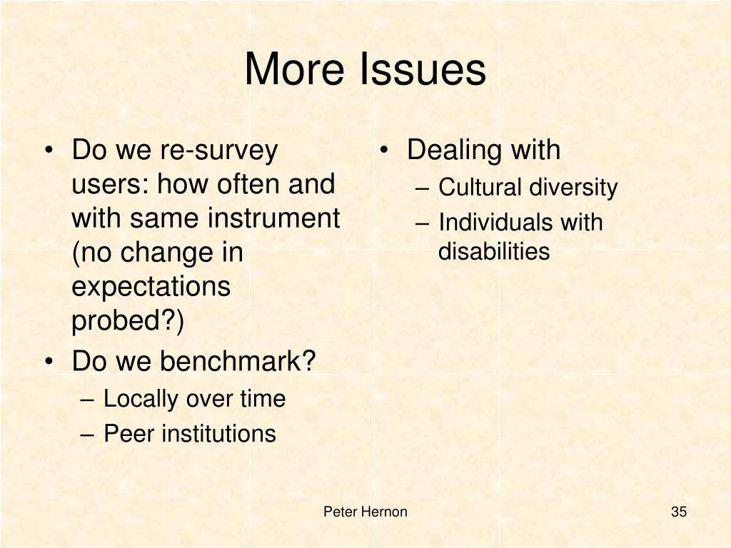 Do we re-survey users: how often and with same instrument (no change in expectations probed?)