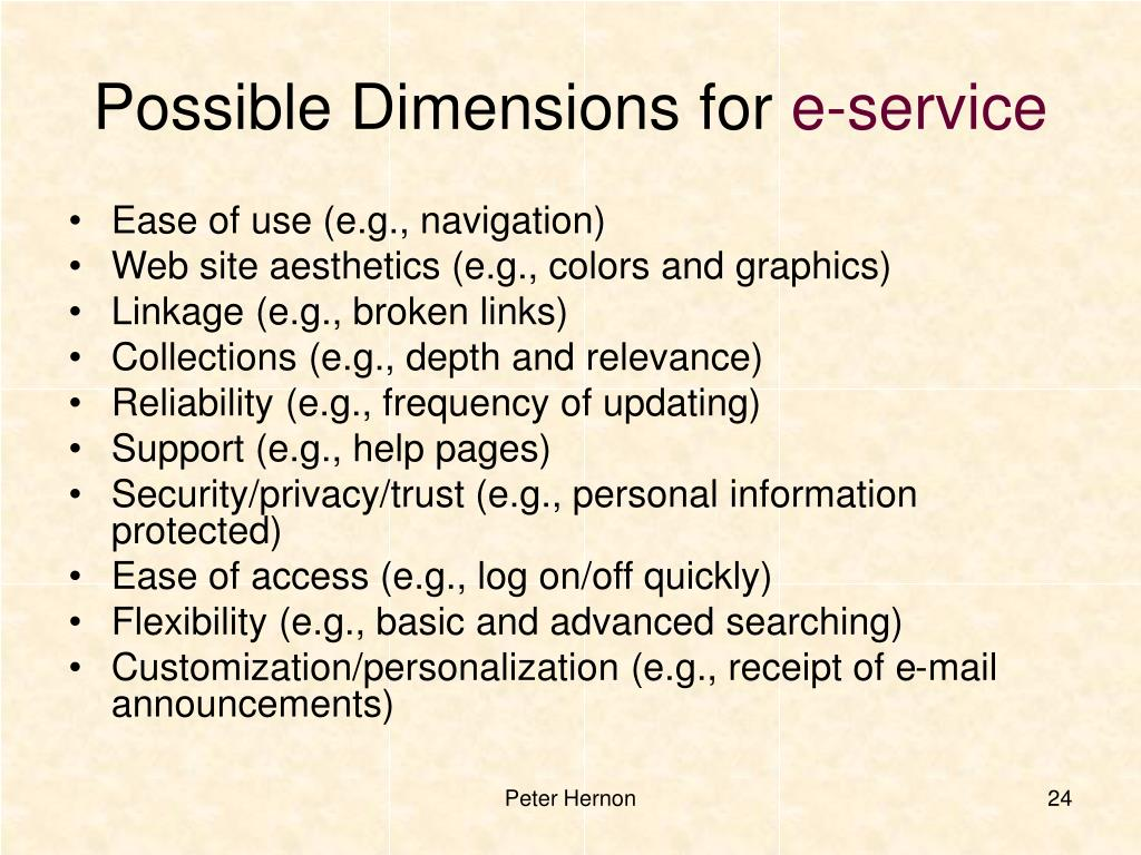 Possible Dimensions for