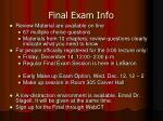 final exam info4