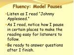 fluency model pauses