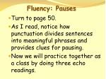 fluency pauses