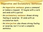 imperative and exclamatory sentences47