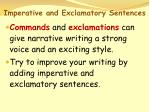 imperative and exclamatory sentences58