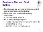 business plan and goal setting