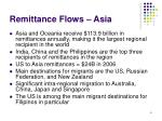 remittance flows asia