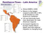 remittance flows latin america