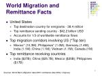 world migration and remittance facts